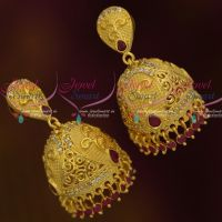 Light Gold Matte Forming Imitation Jewellery Real Look Jhumka Collections Latest Trendy Shop Online
