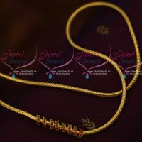 Smooth Finish Kodi Chain Spiral Design Ruby Emerald Mugappu 24 Inches Online