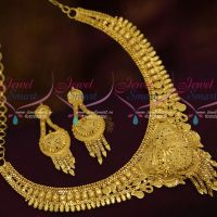 South Indian Traditional Jewellery Intricate Work Light Matte Forming Short Necklace Shop Online