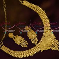 South Indian Traditional Gold Design Artificial Jewellery Sets Light Matte Forming Plated Collections Online