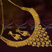Broad Floral Design Pendant Forming Light Matte Gold 100 MG Plated Fashion Jewellery Shop Online