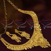 Light Matte South Indian Short Necklace 100 Mg Forming Plated Jewellery Shop Online