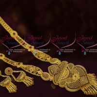 One Gram Gold Forming 100Mg Plated Haram AD Stones Latest Traditional South Indian Jewellery Online