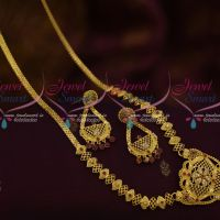 Ruby White Mini Haram One Gram Gold Forming 100Mg Plated Latest Traditional South Indian Jewellery Online