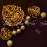 Nagas Antique Matte Reddish Gold Finish Pendant Earrings Latest Traditional Jewellery Collections Online