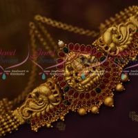 Kids and Adults Temple Jewellery Chain Vaddanam South Indian Matte Gold Latest Traditional Ornaments Online