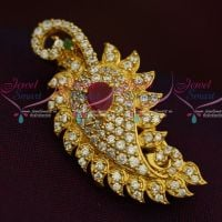 Mango Design AD Stones Fashion Jewellery Saree Pin Collections Shop Online