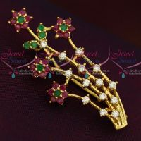 Floral Design American Diamond Fashion Jewellery Saree Pin Collections Shop Online