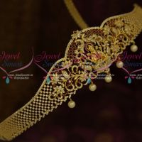 American Diamond Temple Jewellery Oddiyanam Ruby White Latest Traditional Designs Online