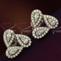 Silver 92.5 Stylish Jewellery CZ High Quality Spakling stones Round Ear Studs Shop Online