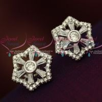 Silver 92.5 Jewellery CZ High Quality Spakling Star Design Ear Studs Shop Online