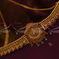 Temple Jewellery Chain Vaddanam South Indian Matte Reddish Gold Latest Traditional Ornaments Online