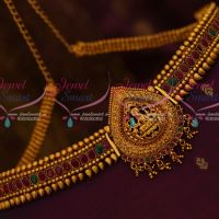 Temple Jewellery Chain Oddiayanam South Indian Matte Reddish Gold Latest Traditional Ornaments Online