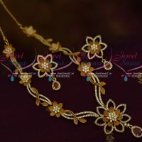 Light Matte AD Floral Design Premium Fashion Jewellery Diamond Finish Collections Shop Online