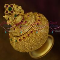 Peacock Kunguma Chimil Sindoor Kum Kum Box Gold Plated Intricate Design Auspicious South Indian Traditional