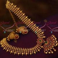 Marquise Kemp Beads Flexible Reddish Plated Screw Back Jhumka Offer Price Jewellery Online