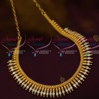 White Marquise AD Stones South Indian Kerala Design Fashion Jewellery Online