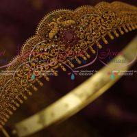 Peacock Matte Light Weight Antique Reddish Premium AD Oddiyanam Latest Fashion Bridal Jewellery Online