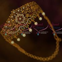AD Jewellery Antique Matte Chain Vanki Single Piece Bridal Collections Semi Precious Stones