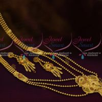 Beads Mala Multi Layer Gold Design Jewellery Forming 100 MG Plated Real Look Delicate Imitation Collections Online