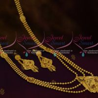 Gold Design Jewellery Pusalu Mala Multi Layer Forming 100 MG Plated Real Look Delicate Imitation Collections Online