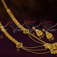 Dual Finish Multi Layer Forming Haram Gold Plated 100 Mg Setting Jewellery Delicate Designs