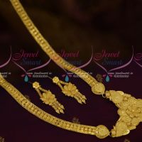 Light Gold Matte 100 Mg Forming Plated Haram Traditional Imitation Delicate Jewellery Designs Online