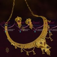Short Necklace Chain Danglers 100 Mg Gold Forming Casting Jewellery Imitation Collections Online