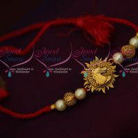 Horse Design Matte Finish Pendant Rakhi Red Colour Rope Shop Online