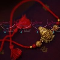 Lord Narasimha Design Temple Rakhi Red Colour Rope Shop Online