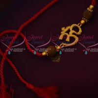 Om Design Temple Rakhi Red Colour Rope Shop Online