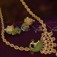 AD Jewellery Peacock Design Ruby Emerald Fashion Imitation Collections Shop Online