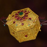 One Gram Nakshi Handmade Small Size Sindoor Box Kumkam Barina Buy Online Gold Plated