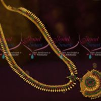 Kerala Style Ruby Emerald Gold Covering Imitation Jewellery Haram Collections Shop Online