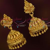 Leaf Design Jimikki Earrings South Indian Gold Covering Imitation Jewellery Online