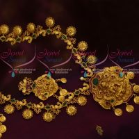 Peacock Temple Coin Haram Beautiful Gold Finish Antique Imitation Jewellery Designs Online