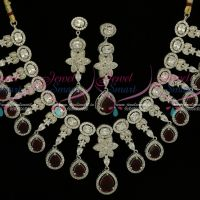 Exclusive Diamond Finish Jewellery Rhodium Marron AD High Quality Imitation Collections Online
