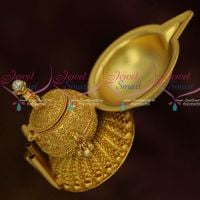 3 In One Sindoor Box Agarbathi Stand Oil Lamp Auspicious Gold Look Jewellery Item Latest Online