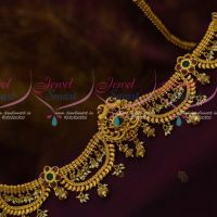 Baahubali Style Devasena Hip Chain Mango Design Pearl Drops Fashion Jewellery Gold Plated Online