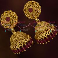Crystal Bead Drops Light Weight Jhumka Earrings Gold Plated Jewellery Designs Online