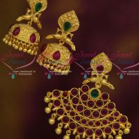 Peacock Design Kemp Stones Pendant Jhumka Earrings Imitation Jewellery Low Price Good Quality Collections