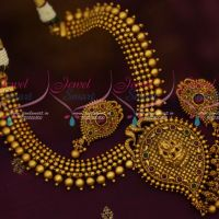 Mango Design Temple Pendant Beads Necklace Matte Gold Antique Jewellery Collections Online