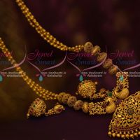 Peacock Beads Mala Jhumka Trendy Haram Latest Matte Gold Antique Jewellery Collections Online
