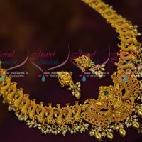 Peacock Design Temple Pendant  South Indian Jewellery One Gram Collections Shop Online
