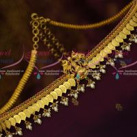 One Gram Gold Kasulaperu Hip Chain Temple Mango Coin Vaddanam Latest Traditional Designs Online