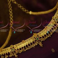 South Indian Jewellery Gold Plated Kasulaperu Hip Chain Temple Coin Vaddanam Latest Traditional Designs Online
