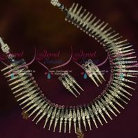 Antique Silver Plated Kerala Style Short Necklace Latest Trendy Jewellery Collections Online