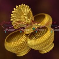 Peacock Design 3 in One Sindoor Box Auspicious One Gram Jewellery Latest Online