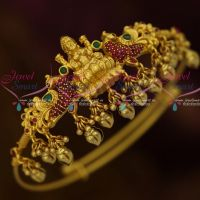 Latest  AD Ruby Emerald Stones Temple Wedding Jewellery South Indian Round String Vanki Online