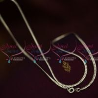 18 Inches 925 Pure Silver Fine Thin Quality Flexible Oxidised Finish Italian Daily Wear Chain